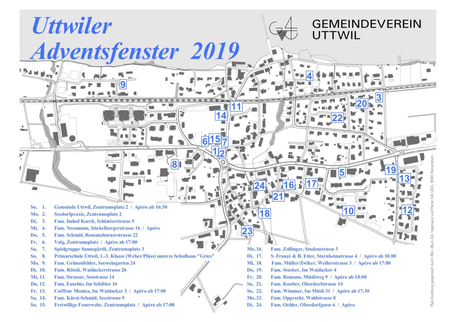 Uttwiler Adventsfensterkalender 2019